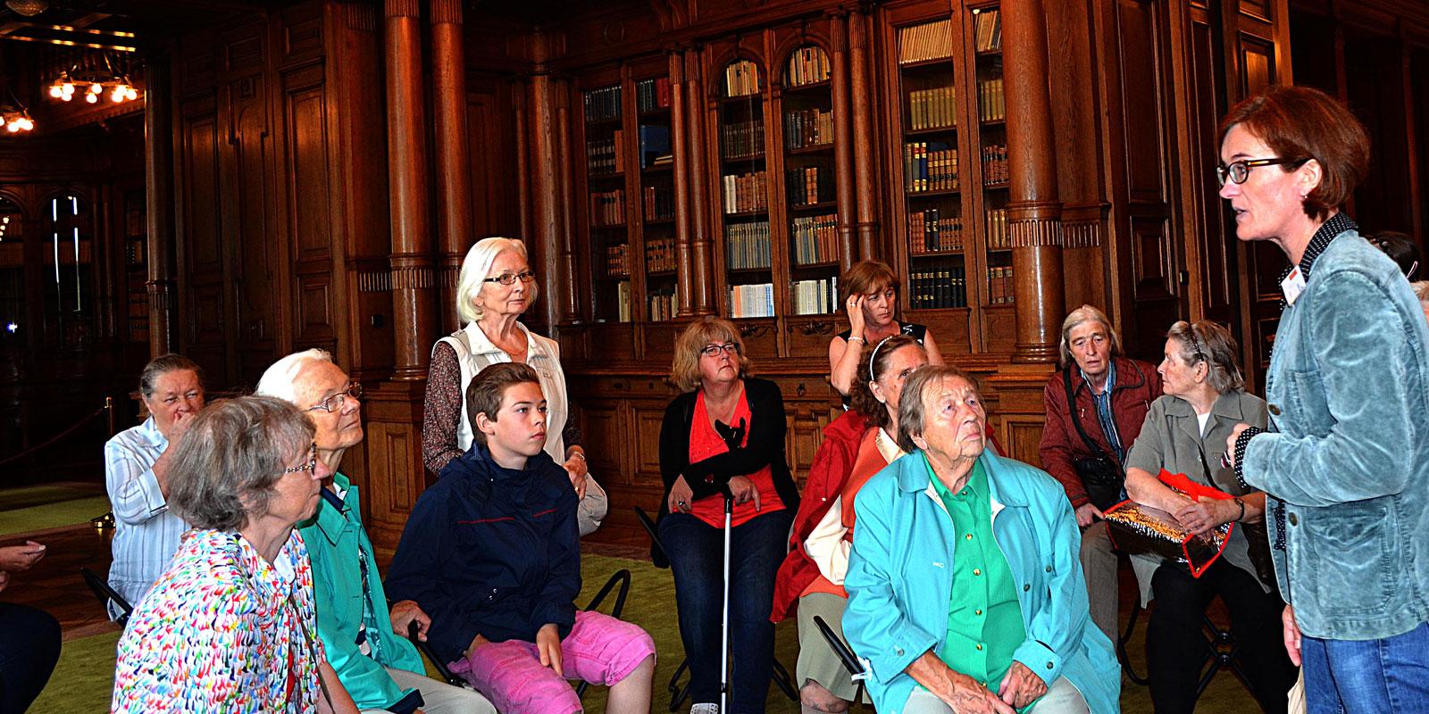 Senioren unserer Gemeinde in der Villa Hügel.
