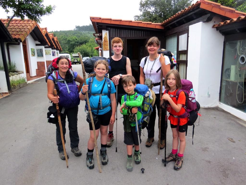 Lilian und ihre Mitstreiter auf dem Weg nach Santiago.