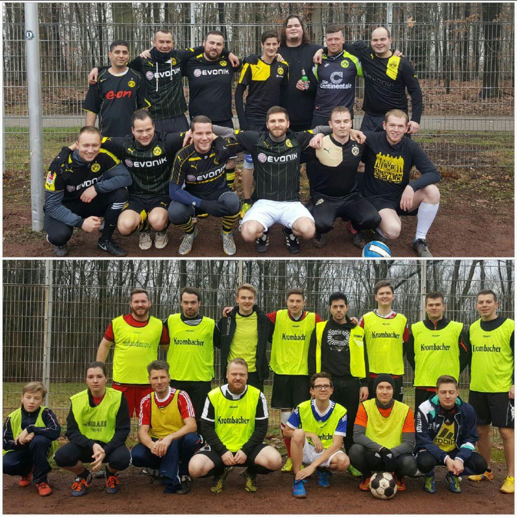 Oben die All Stars, unten das BVB-Team. Wobei oben und unten nicht programmatisch gemeinst ist.