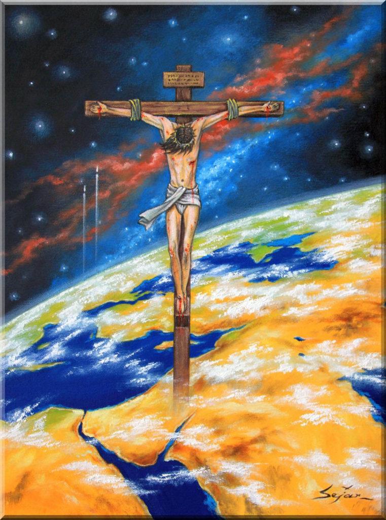 Mein Jesus, mein Retter! 2016. Öl auf Leinwand. 40 x 30 cm