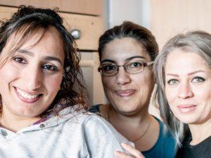 Sie kochten für die inherne-Redaktion: Salwa, Rania und Souzan. ©Frank Dieper, Stadt Herne.